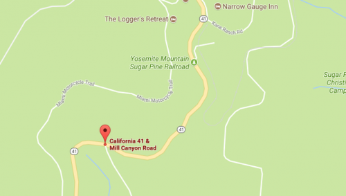 Google Map of the area around the Logger's Retreat