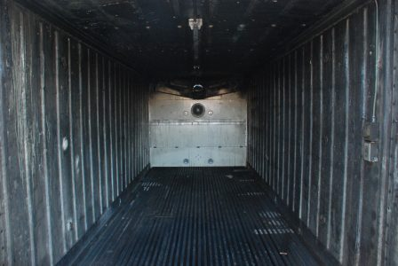 Image of the sooty insides of the storage container