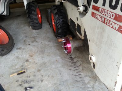 Image of wheel spacer installed on the axle