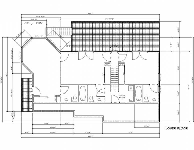 Image of the lower floor plan.