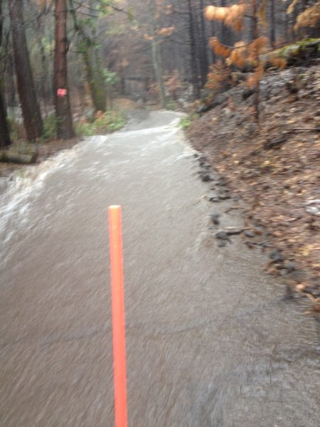 Image of a driveway covered with swift whitewater